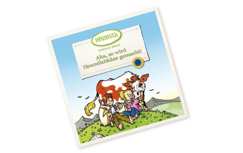"Kinderbuch ""Aha, so wird Heumilchkäse gemacht!"""