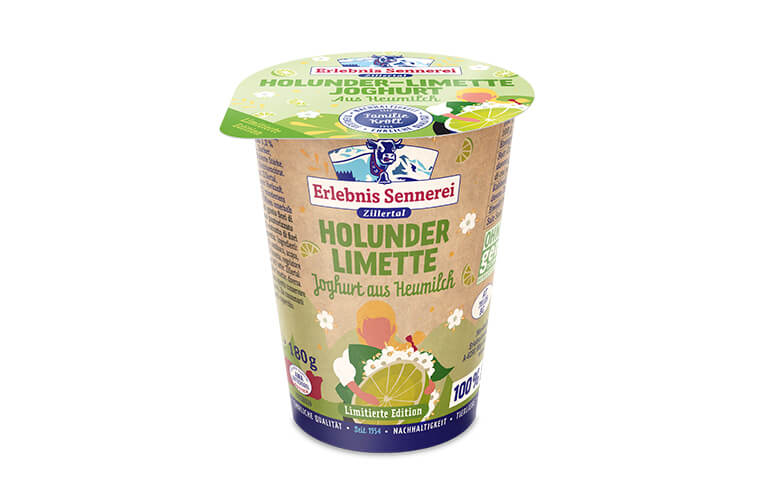 Zillertaler Holunder-Limette Joghurt