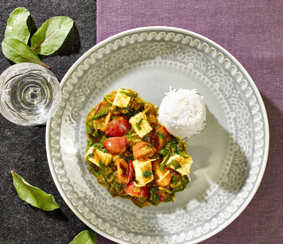 Mangoldcurry mit Heumilch-Paneer