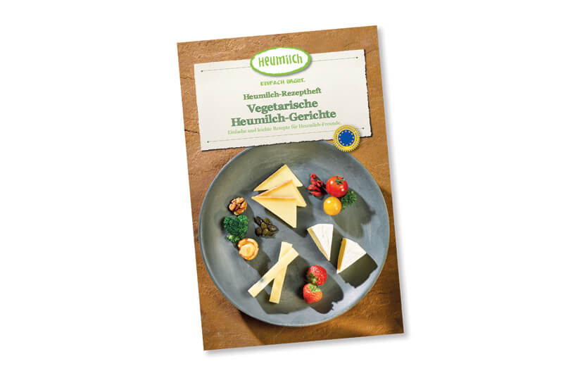 """Rezeptheft """"Vegetarische Heumilch-Gerichte"""""""