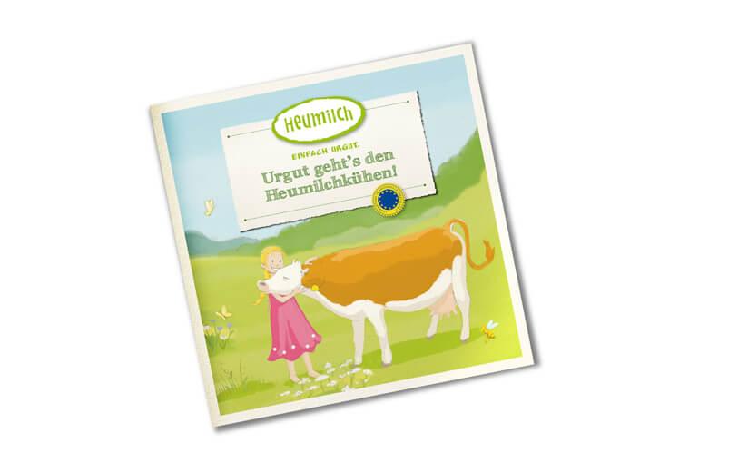 "Kinderbuch ""Urgut geht´s den Heumilchkühen!"""
