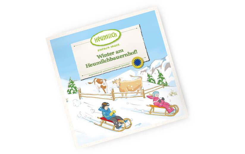 """Kinderbuch """"Winter am Heumilchbauernhof!"""""""