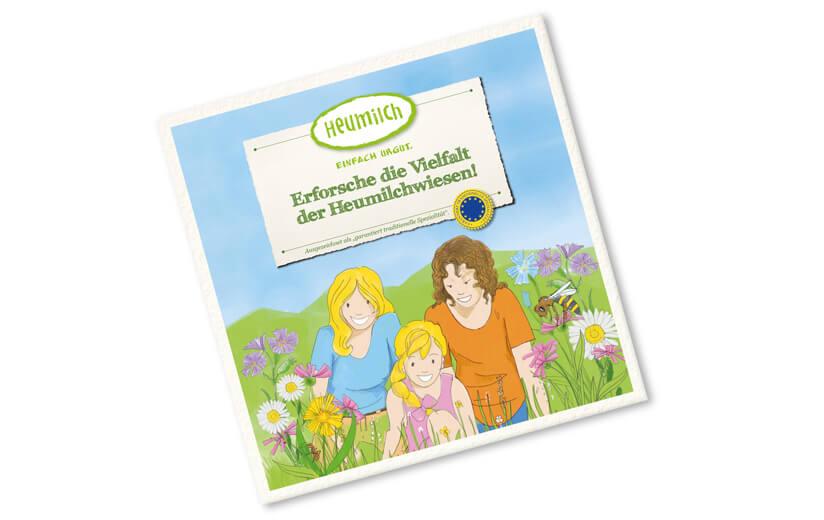 Kinderbuch – Erforsche die Vielfalt der Heumilchwiesen!