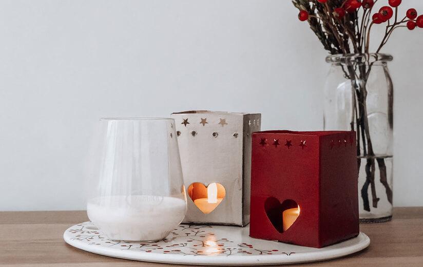 Festliche Stimmung: Weihnachtliches Dekolicht aus Heumilch-Karton