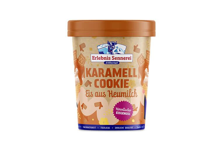 Zillertaler Karamell-Cookie-Eis